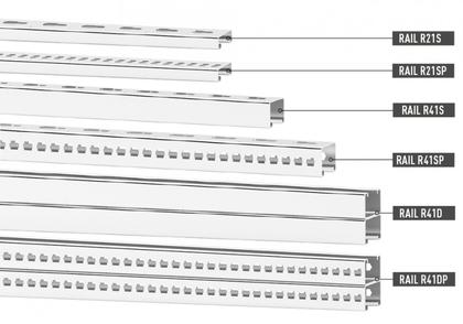 6 types rails strut